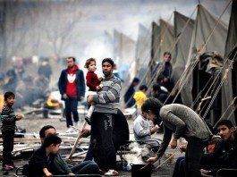 Refugiados indignados