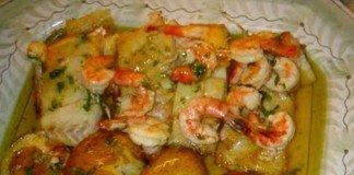 Bacalhau com camarão
