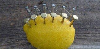 Limão com pregos