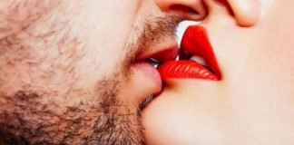 Beijo diminui o stress
