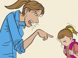 Gritar com os filhos