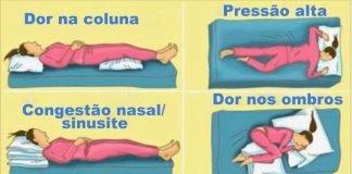 Posição correcta de dormir