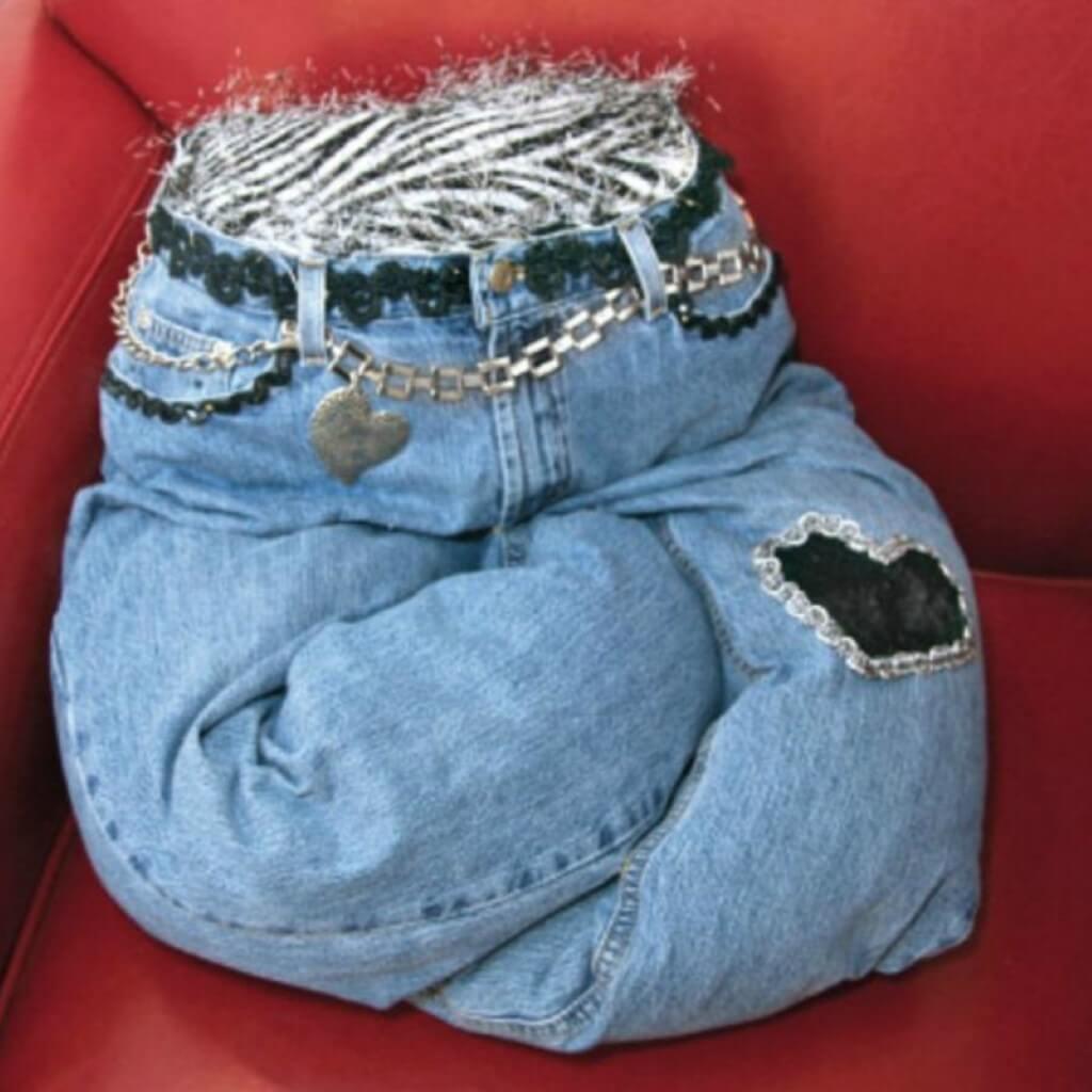 calças de ganga velhas