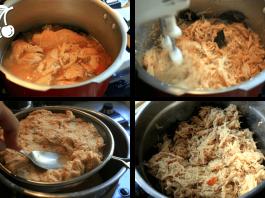 assar ou cozinhar frango