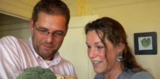 Marido e mulher vegetarianos