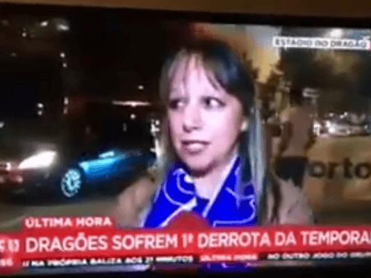 Mulher troca Benfica