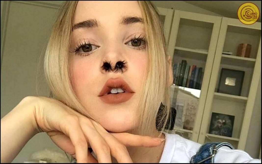 extensões de pêlos no nariz