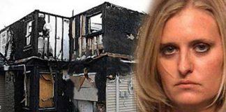 Mulher norte-americana incendiou a casa