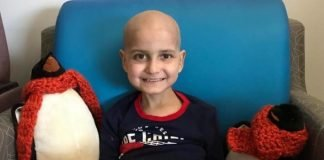 Criança com cancro em fase terminal