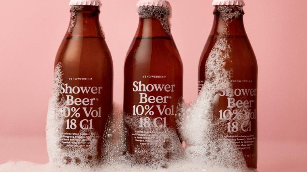cerveja para beber no banho