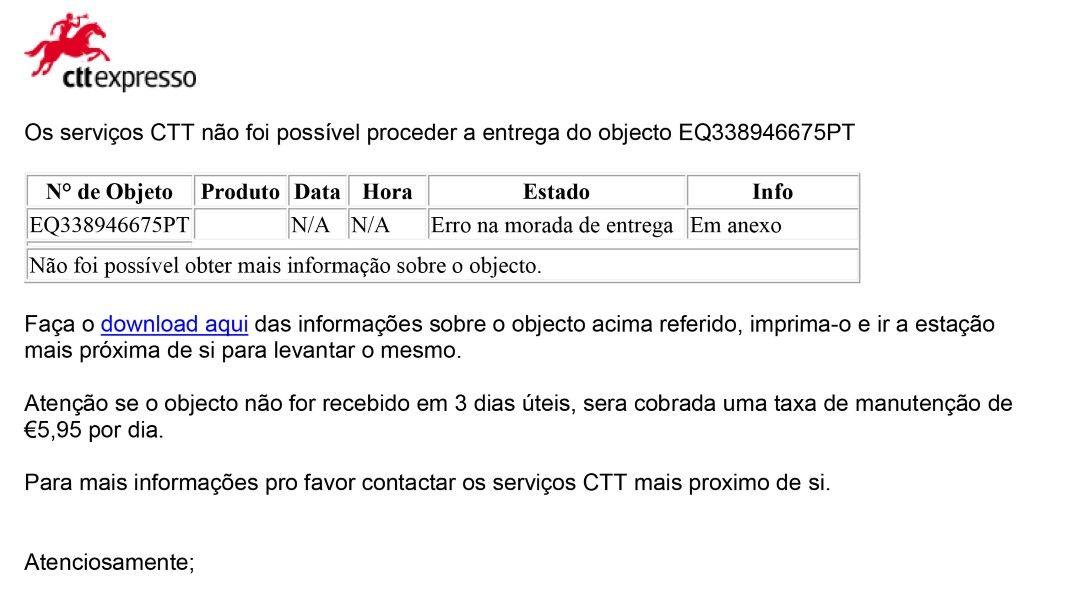 e-mails dos CTT e EDP