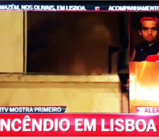 incêndio em Lisboa