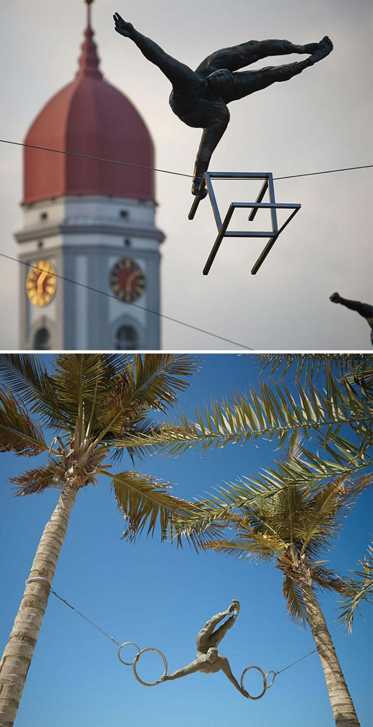 Esculturas que desafiam a gravidade
