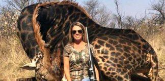 Mulher que publicou foto viral por matar girafa