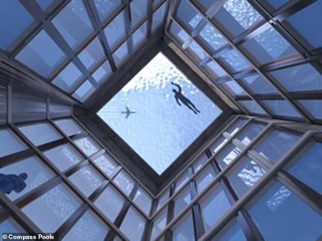 primeira piscina com vista de 360 graus