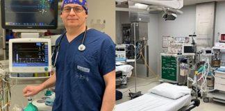 Médico transforma um ventilador em nove